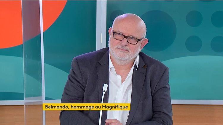 Le biographe Laurent Bourdon, le 9 septembre 2021,sur le plateau dela chaîne franceinfo. (FRANCEINFO)