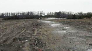 """Leterrain de l'ex-""""jungle"""" de Calais, fin novembre 2016, un mois après le démantèlement du camp (RADIO FRANCE / JÉRÔME JADOT)"""