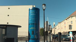 Des colonnes de métal implantées dans plusieurs villes capturent la pollution pour la transformer en oxygène grâce à des micro-algues. (FRANCE 2)