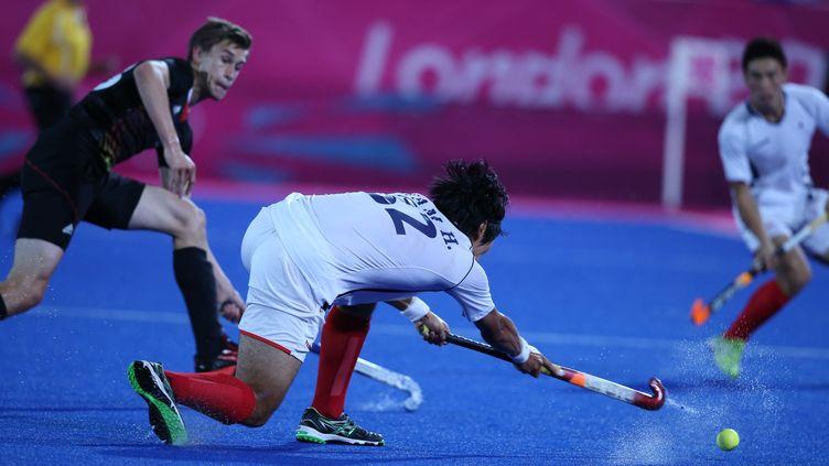 Jeux Olympiques de Londres en 2012. Hockey sur gazon. Match Corée / Allemagne (MAXPPP)