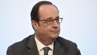 François Hollande inaugure le nouveau campus Jourdan de l'Ecole normale supérieure et l'Ecole d'économie de Paris, le 23 février 2017. (STEPHANE DE SAKUTIN / POOL)