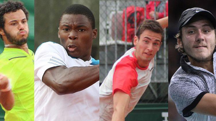 Laurent Lokoli, Johan Sébastien Tatlot, Quentin Halys et Lucas Pouille, quatre joueurs représentant la future relève du tennis masculin français