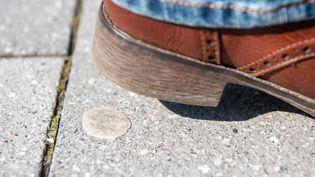 Un vieux chewing-gum abandonné sur un trottoir (illustration). (CAROLINE SEIDEL / DPA)