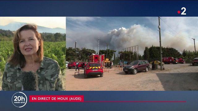Aude : incendie à Moux, 90 personnes évacuées
