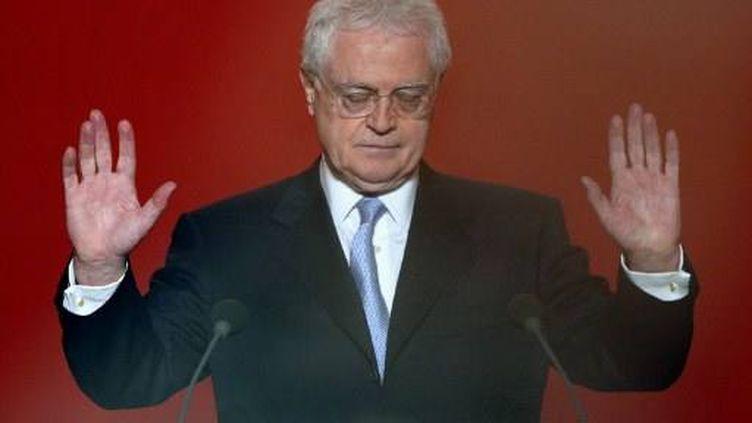 Lionel Jospin à la fin de son discours (21 avril 2002) (JACK GUEZ / AFP)