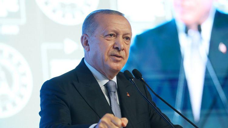 Le président turc, Recep Tayyip Erdogan, le 12 septembre 2020, à Ankara(Turquie). (MURAT KULA / ANADOLU AGENCY / AFP)