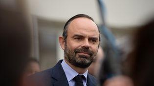 Édouard Phillipe, le 11 février près de Tours. (GUILLAUME SOUVANT / AFP)