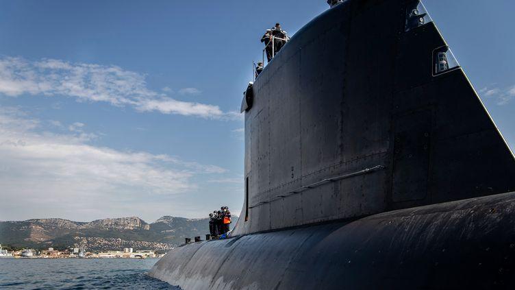 Photo d'un sous-marin construit par Naval Group (illustration). (AFP / NAVAL GROUP)