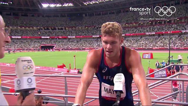 """Gêné par une douleur au dos en début de journée, Kevin Mayer se satisfait d'avoir """"trouvé la solution"""" pour signer un grand concours de saut en hauteur."""