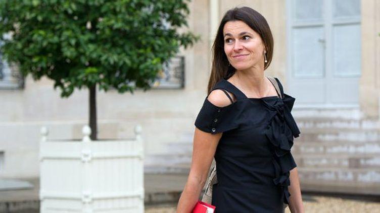 Aurelie Filippetti le 1er août 2012 à l'Elysée  (Bertrand Langlois / AFP)