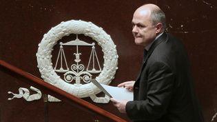 Bruno Le Roux, alors président du groupe socialiste, arrive au perchoir de l'Assemblée nationale, le 25 novembre 2015. (JACQUES DEMARTHON / AFP)