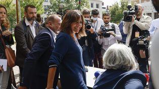 La maire de Paris Anne Hidalgo lors du Campus 21 organisé par le Parti socialiste à Blois (Loir-et-Cher) le 27 août 2021 (OLIVIER CORSAN / MAXPPP)