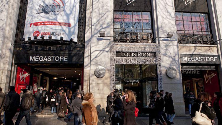 Le magasin Virgin Megastore des Champs-Elysées, à Paris. (ESCUDERO PATRICK / HEMIS.FR / AFP)
