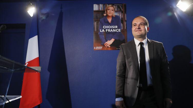 David Rachline, directeur de campagne de Marine Le Pen, le 26 avril 2017. (THOMAS SAMSON / AFP)
