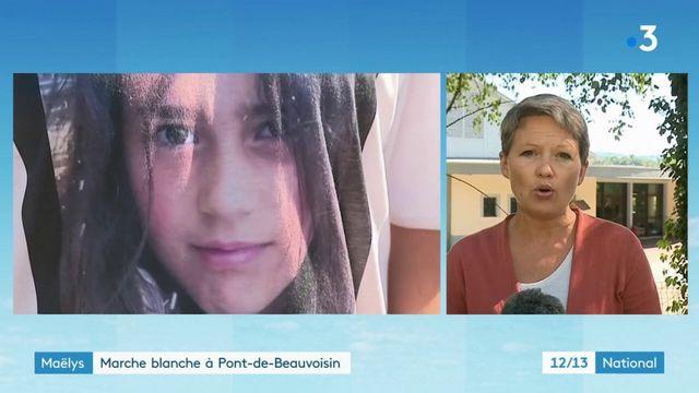 Maëlys : marche blanche à Pont-de-Beauvoisin