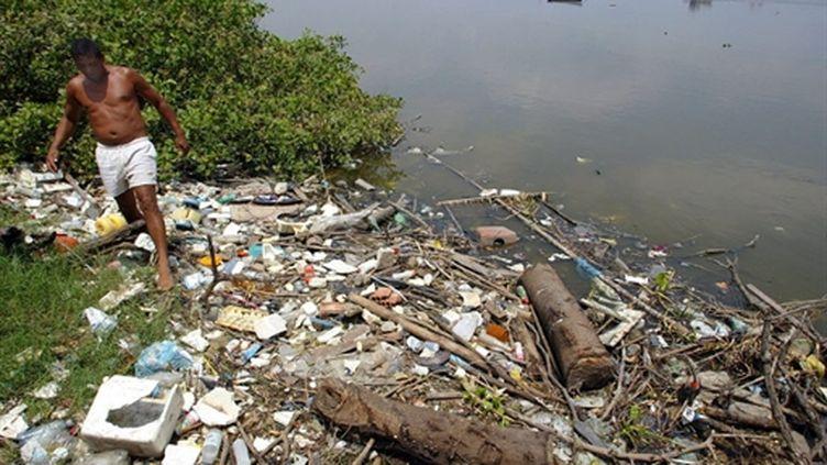 Image de Guanabara, baie du littoral brésilien de l'Etat de Rio de Janeiro, en 2005. (AFP - Vanderlei Almeida)