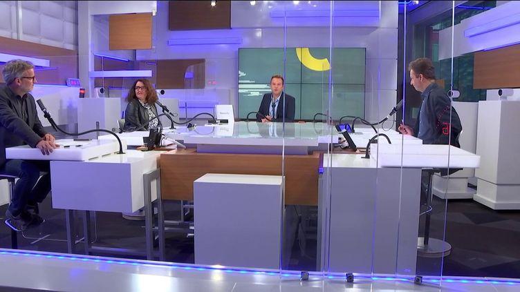 Le plateau des Informés du matin du vendredi 10 septembre. (FRANCEINFO / RADIOFRANCE)