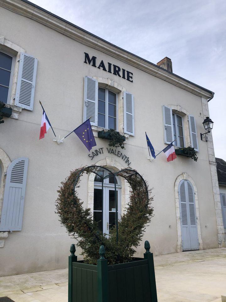 La mairie de Saint-Valentin, dans l'Indre. (RF / BERNARD THOMASSON)