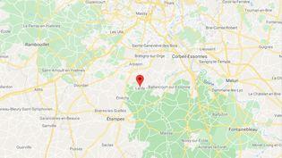 Lardy (Essonne). (CAPTURE D'ECRAN GOOGLE MAPS)