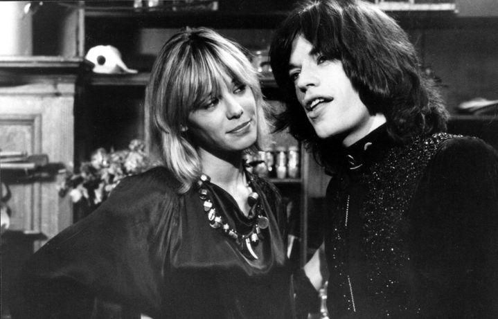 Avec Mick Jagger en 1970.  (RONALDGRANT/MARY EVANS/SIPA)