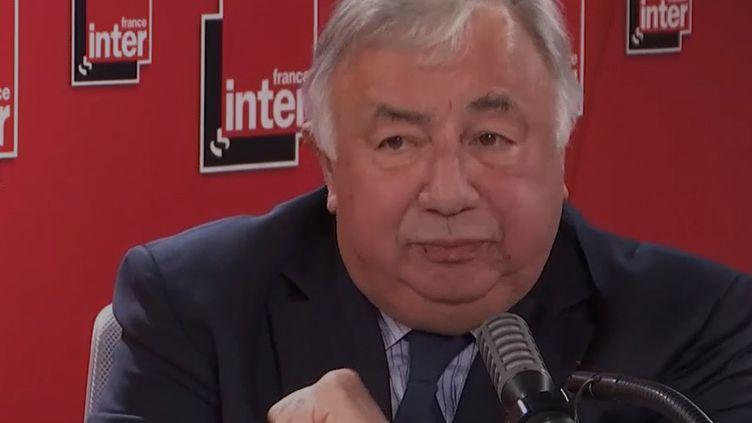 Gérard Larcher, président du Sénat, invité de France Inter le 7 juillet 2020. (FRANCEINTER / RADIOFRANCE)