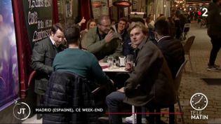 Les terrasses de Madrid appréciées des Français (France 2)