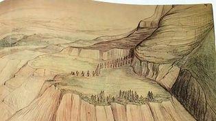 Un des dessins de Tolkien qui sera mis en tapisserie à Aubusson  (France 3 / Culturebox)