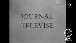 La présentation du premier journal télévisé. (France 2)