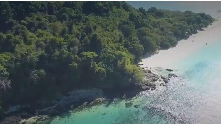 L'île de Nosy Tanikely, dans l'archipel de Nosy Be, à Madagascar. (FRANCE 2)