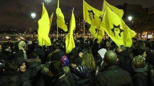 Rassemblement de la Ligue de défense juive à Paris, le 16 janvier 2014. (ANTHONY DEPERRAZ / CITIZENSIDE / AFP)