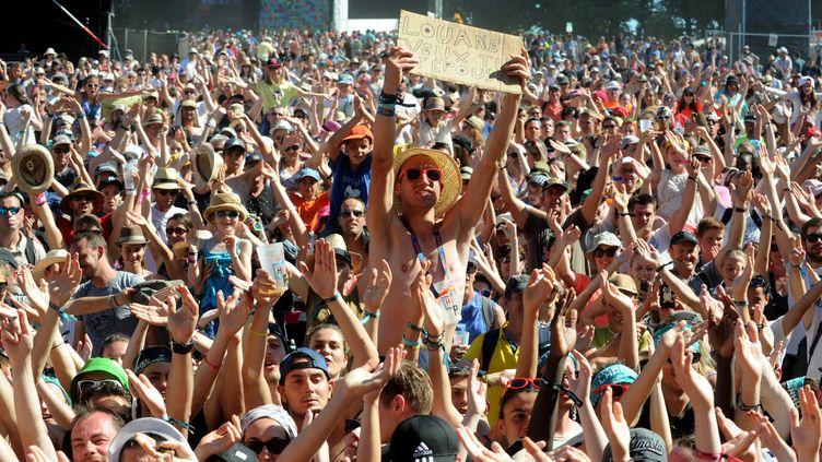 Le public devant le concert de Louane, le 17 juillet 2016, aux Vieilles Charrues.  (FRED TANNEAU / AFP)