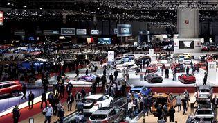 Hall d'exposition duSalon automobile Genève (Suisse), le 7 mars 2018. (MAXPPP)