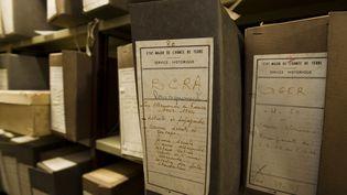 Des archives de la BCRA, conservées à Vincennes (Val-de-Marne). (DOMINIQUE.VIOLA / AFP)
