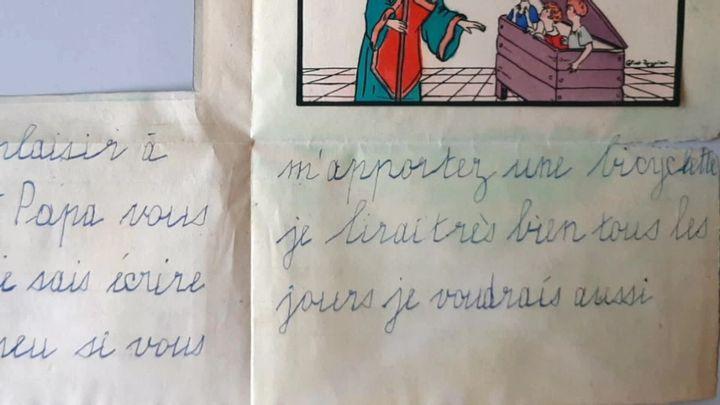 Extrait de la lettre oubliée au Père-Noël découverte en Alsace (France Télévisions / France 3 Alsace)