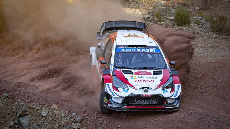 Sébastien Ogier (Toyota) sur les pistes de Turquie (GREGORY LENORMAND / DPPI MEDIA)