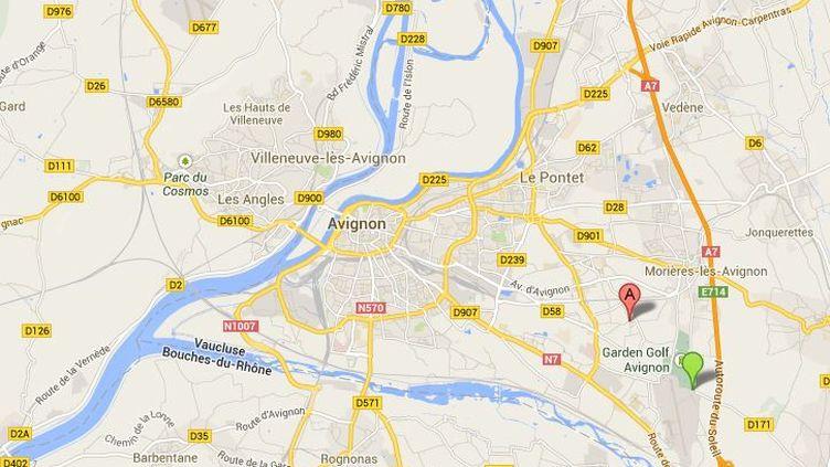 Le quartier Montfavet,situé dans le sud-est d'Avignon (Vaucluse), a été le théâtre de plusieurs viols. ( GOOGLE MAPS / FRANCETV INFO )