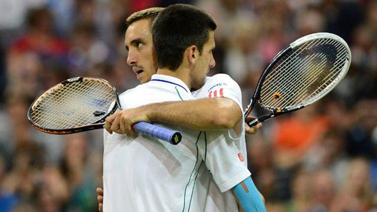 Les deux joueurs serbes, Novak Djokovic et Viktor Troicki