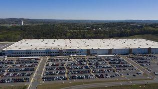 Le site d'Amazon à Bessemer, en Alabama, le 29 mars 2021. (PATRICK T. FALLON / AFP)