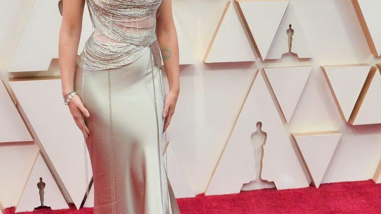 L'actrice Scarlett Johansson arrive à la cérémonie des Oscars à Los Angeles (Etats-Unis), le 9 février 2020. (MAXPPP)