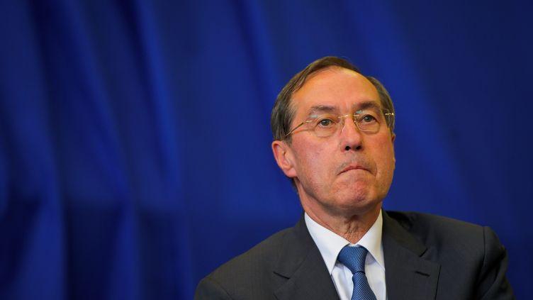 L'ex-secrétaire général de l'Elysée et ancien ministre Claude Guéant, le 4 juin 2012 à Boulogne-Billancourt (Hauts-de-Seine). (MAXPPP)