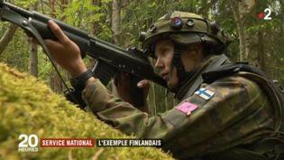 Un soldat finlandais, effectuant son service militaire. (FRANCE 2)