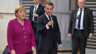 Angela Merkel et Emmanuel Macron à Toulouse, le 16 octobre 2019. (PASCAL PAVANI / AFP)