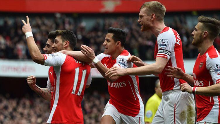 La joie des joueurs d'Arsenal