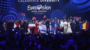 Le concours Eurovision 2017 à Kiev (Ukraine). Ici, les demi-finales, le 11 mai 2017. (MICHAEL CAMPANELLA / GETTY IMAGES EUROPE)