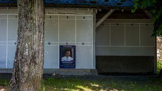 Les panneaux d'affichage électorauxdeChantenay-Villedieu (Sarthe) en mai 2017. (MATTHIEU MONDOLONI / RADIO FRANCE)