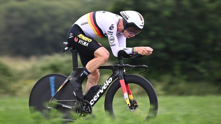 Tony Martin lors de la 5e étape du Tour de France 2021. (ANNE-CHRISTINE POUJOULAT / AFP)