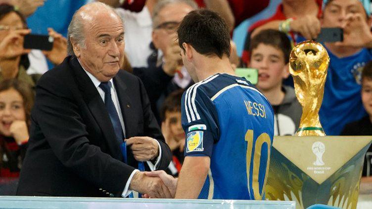 Sepp Blatter lors de la cérémonie de la Coupe du monde.  (  BEN QUEENBOROUGH / BACKPAGE IMAGES LTD)