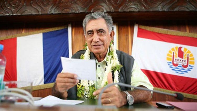L'indépendantiste Oscar Temaru, élu pour la 3e fois président de la Polynésie française (AFP - GREGORY BOISSY)
