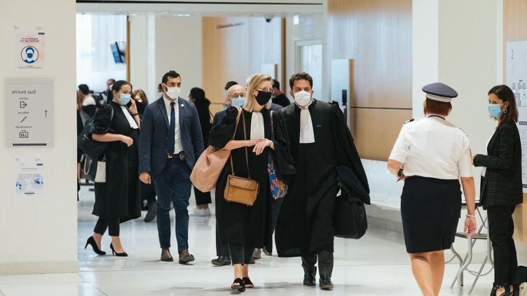 Le premier jour du procès des attentats de janvier 2015, à Paris, le 2 septembre 2020. (MARIE MAGNIN / HANS LUCAS / AFP)