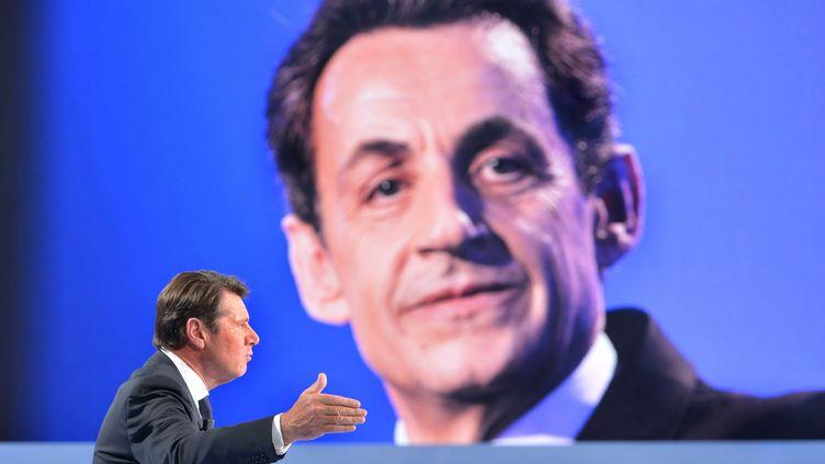 """Le député-maire UMP de Nice,Christian Estrosi, le 15 juin 2014, sur le plateau de """"C Politique"""", sur France 5, à Paris. (IBO/SIPA)"""